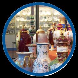 Porcelain at Drottningholm Palace