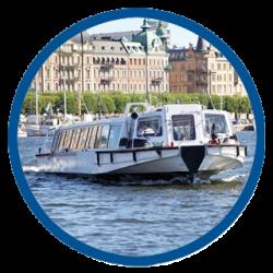 Visiting Stockholm by boat