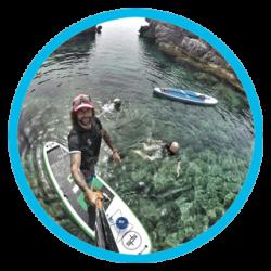 Paddle Surf Selfie