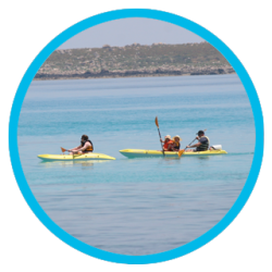 Kayaking in Punta Prima