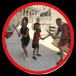 Meeting with gladiators